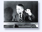 Lorin Hollander, boy at piano