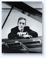 Lorin Hollander, young man at piano